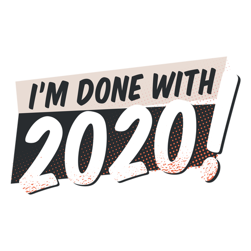 Done with 2020 lettering