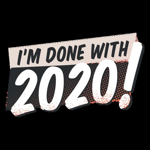 Feito com letras de 2020