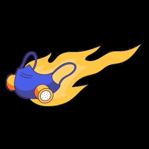 Flaming medical mask