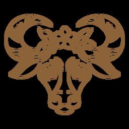 Trazo de buey floral
