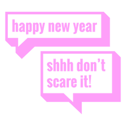 Funny new year lettering
