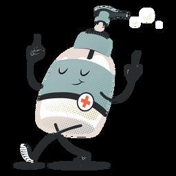 Feliz personaje de dispensador de jabón