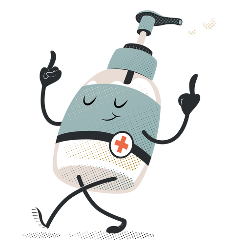 Happy soap dispenser character