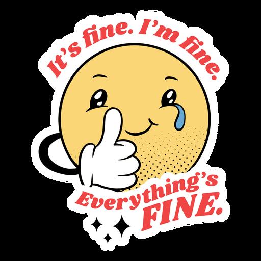 It's fine i'm fine badge