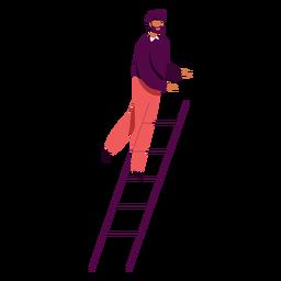 Man climbing ladder character