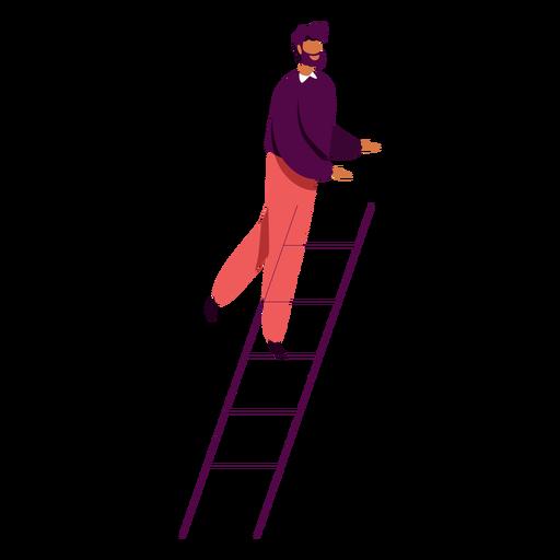 Hombre que sube el carácter de la escalera