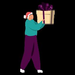 Hombre con carácter de regalo