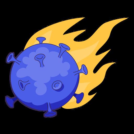 Meteor coronavirus illustration