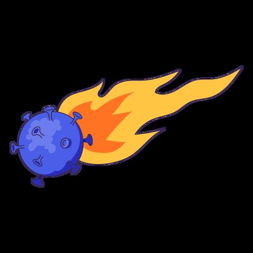 Ilustración de coronavirus de meteorito