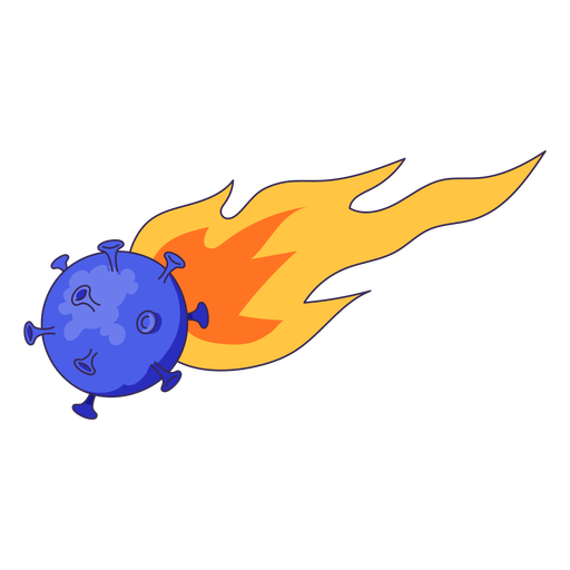 Meteorite coronavirus illustration Transparent PNG