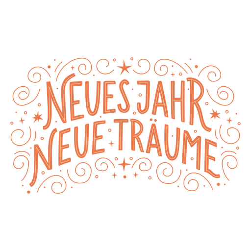 New year german lettering
