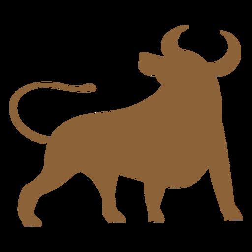 Silueta de animal buey Transparent PNG