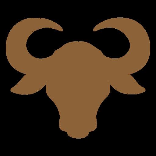 Ox head silhouette