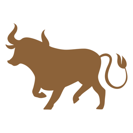 Ox standing silhouette