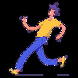 Laufender ängstlicher Charakter