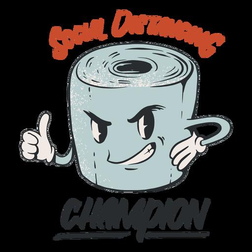 Emblema de campeão de distanciamento social anti 2020