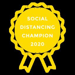 Social distancing 2020 lettering