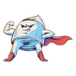 Personaje de papel higiénico de superhéroe