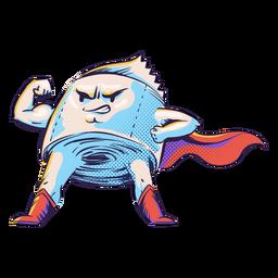 Superhero toilet paper character
