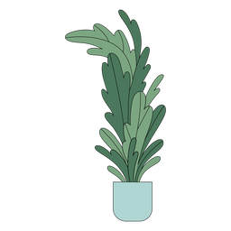 Tall houseplant flat
