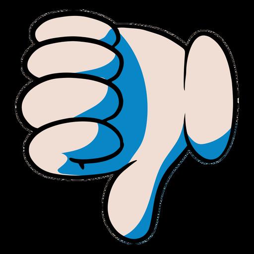 Ilustração de polegar para baixo