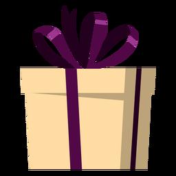 Ilustração do presente do laço embrulhado