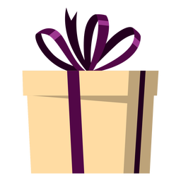 Wrapped bow present illustration