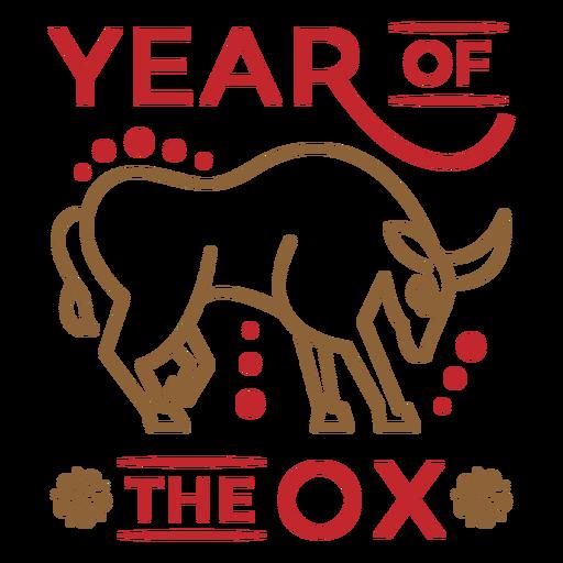 Insignia animal año del buey.