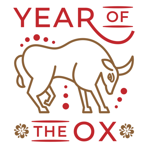 Year of the ox animal badge Transparent PNG