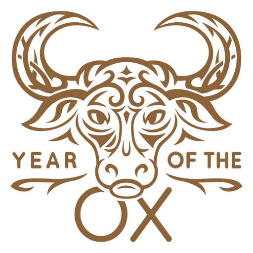 Year of the ox badge