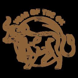 Insignia china del año del buey