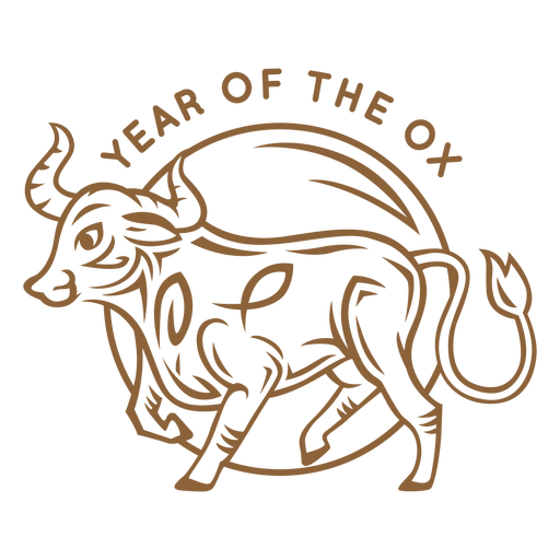 Year of the ox chinese badge