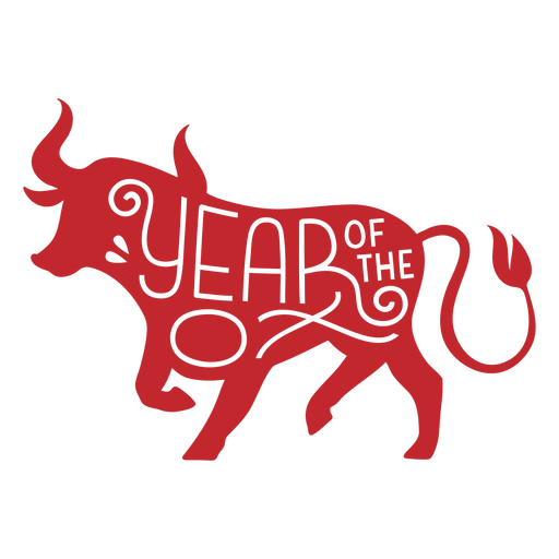 Year of the ox cut out Transparent PNG