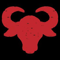 Ano da cabeça de boi recortada