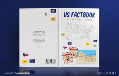 Design de capa de livro de 50 estados