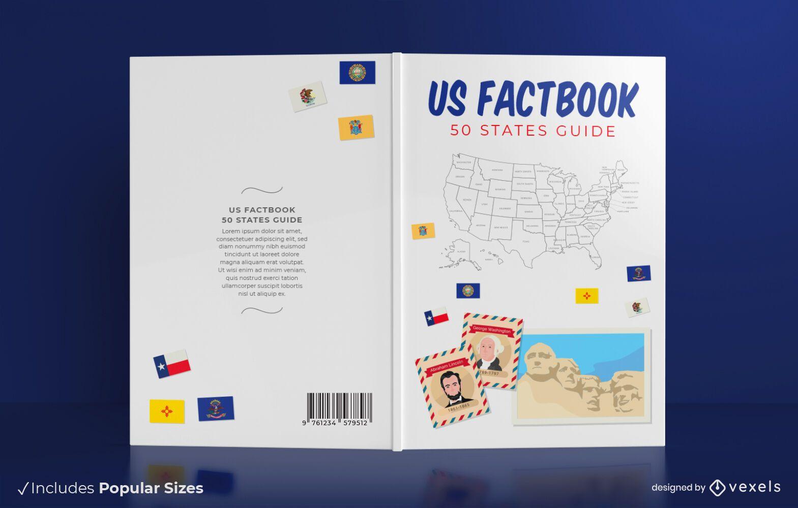 50 states book cover design
