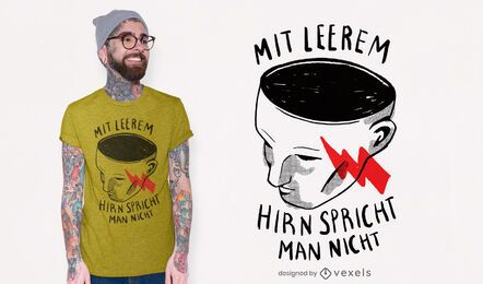 Design de camiseta com cérebro vazio