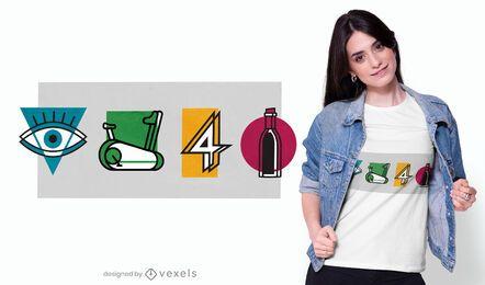 Giro para el diseño de camisetas de vino