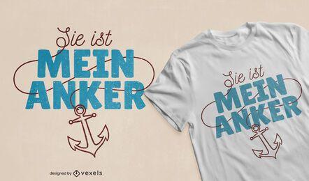 Sie ist mein Anker-T-Shirt Design