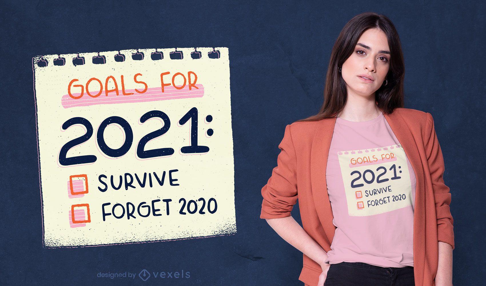 Diseño de camiseta Goals 2021