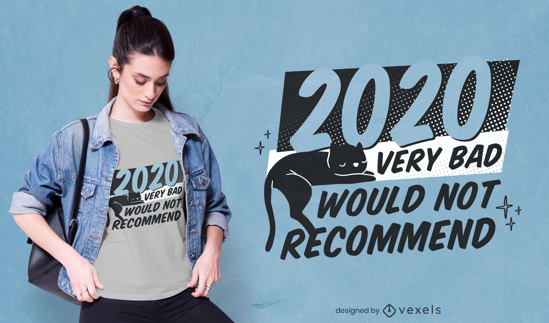 2020 muy mal diseño de camiseta.