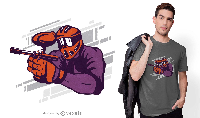 Paintball t-shirt design