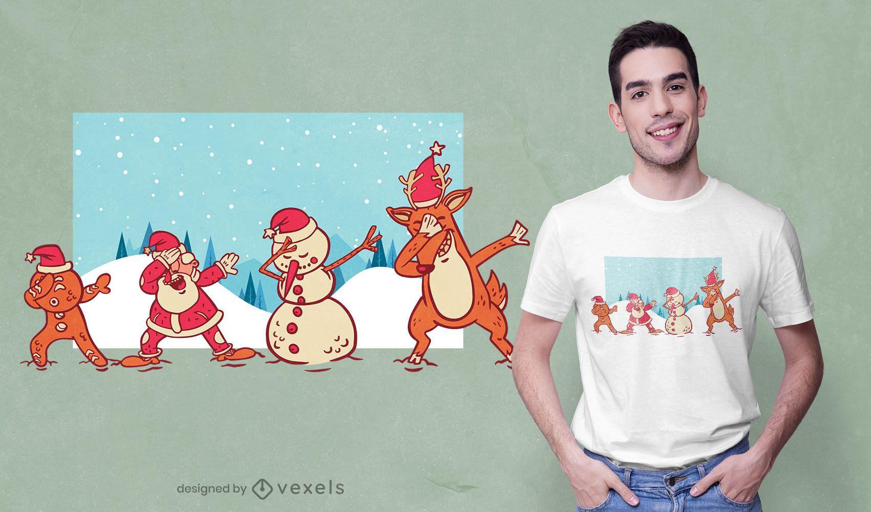 Diseño de camiseta navideña