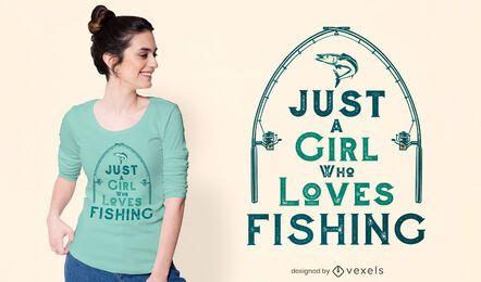Diseño de camiseta amante de la pesca.