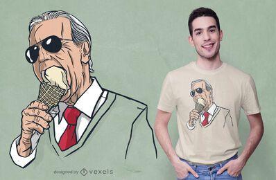 Diseño de camiseta de helado Biden