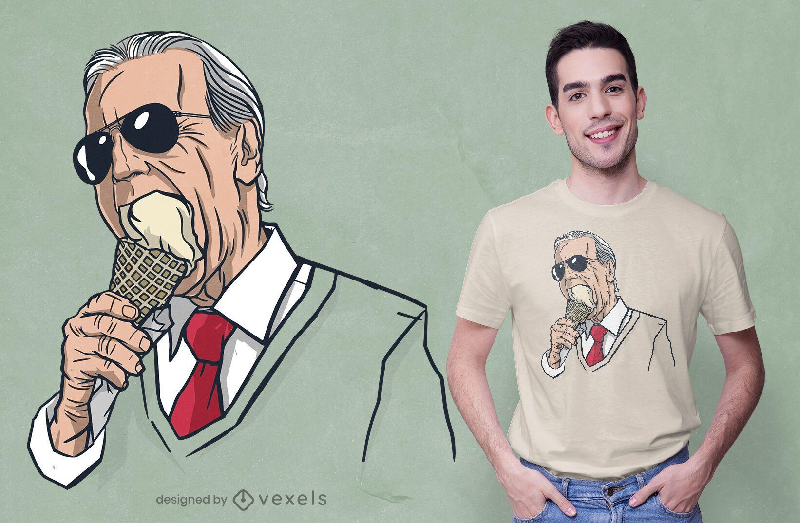 Biden ice-cream t-shirt design