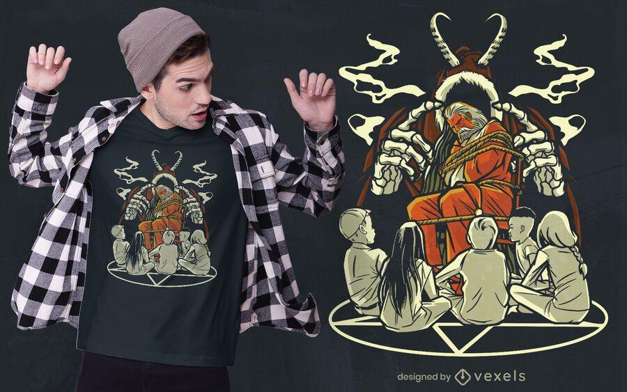 Diseño de camiseta navideña espeluznante