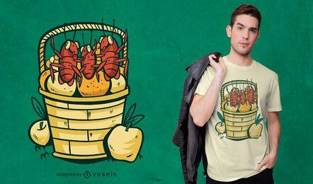 Diseño de camiseta de fiesta de cucarachas.