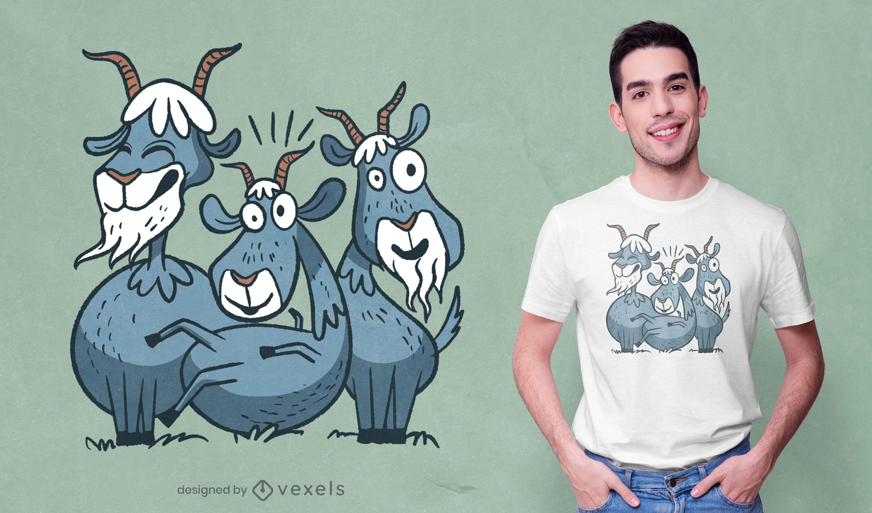 Crazy goats t-shirt design