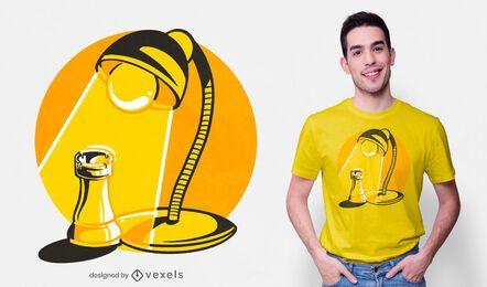 Diseño de camiseta de torre Spotlight
